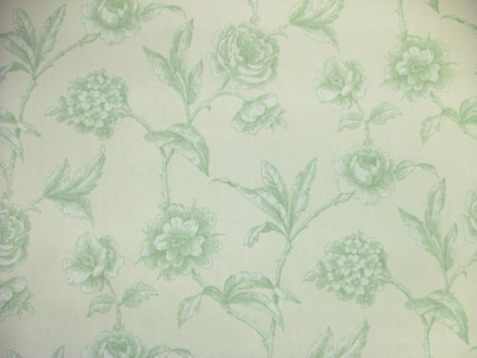 Designer Milton Rustic Green Floral 100% Cotton Curtain / Soft Furnishing Fabric